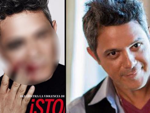 ¡Alejandro Sanz se solidariza con la mujer maltratada de esta forma! (FOTO)