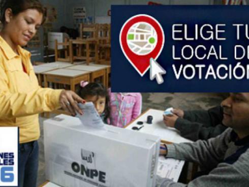 ONPE permite que elijas tu local de votación