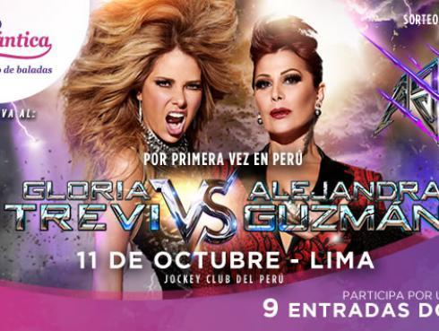 Gana entradas para el concierto de Alejandra Guzmán vs Gloria Trevi en Lima