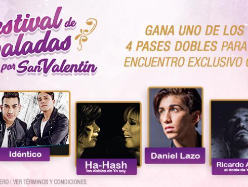 Estos son los ganadores del encuentro exclusivo con los artistas del 'Festival de Baladas por San Valentín'