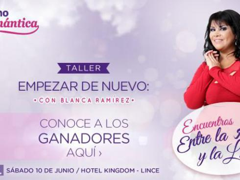 Ganadores de entradas para el Taller 'Empezar de Nuevo' de Blanca Ramírez
