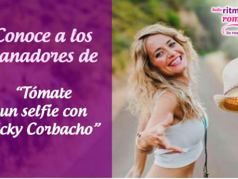 Ganadores de 'Un selfie con Vicky Corbacho' en Ritmo Romántica