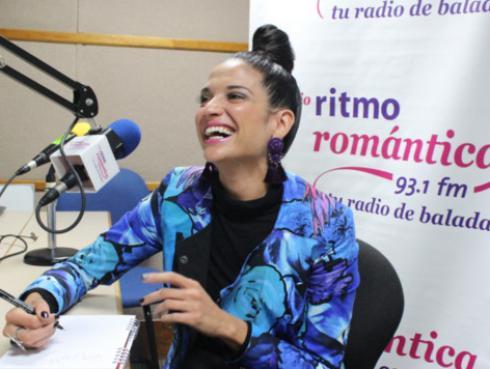 Todo sobre la visita de Natalia Jiménez a la cabina de Ritmo Romántica