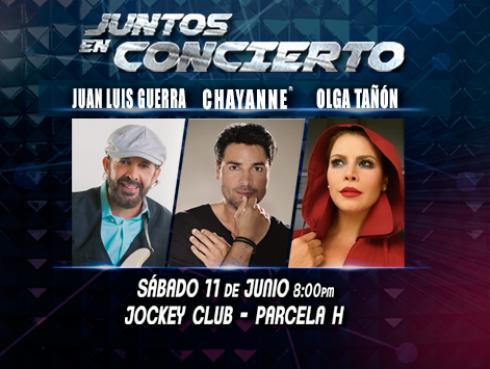 Ellos disfrutarán de 'Juntos en Concierto' con Chayanne, Juan Luis Guerra y Olga Tañón