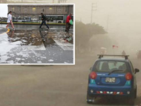 Senahmi alerta fuertes vientos en el sur y lloviznas en Lima