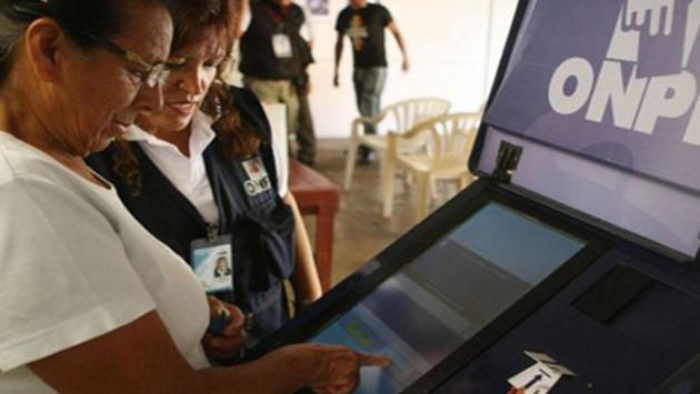 30 distritos de Lima y Callao tendrán voto electrónico