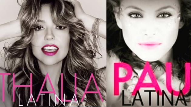 ¿Thalía copió la portada del disco de Paulina Rubio?