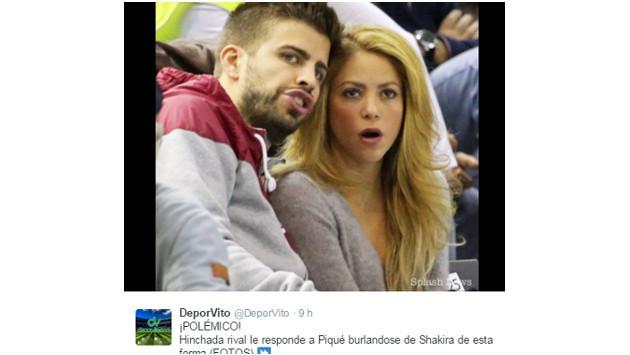 Agreden a Shakira durante partido de Barcelona y el Espanyol