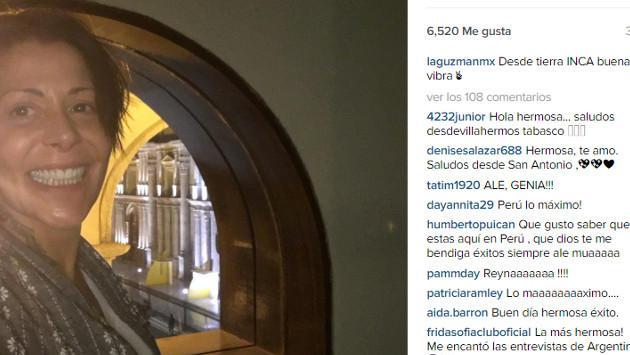 Alejandra Guzmán se enamoró de Arequipa y ya está en Lima para ofrecer espectacular concierto