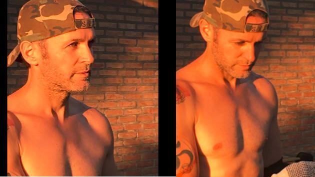 Axel publicó fotos semidesnudo y alborotó las redes sociales