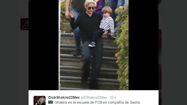 Captan a Shakira jugando con su segundo hijo Sasha