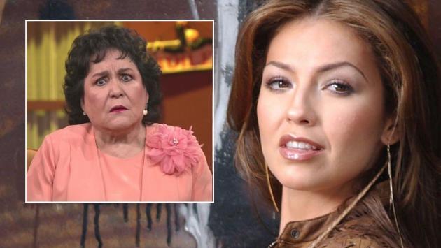 Carmen Salinas se burla de la enfermedad de Thalía
