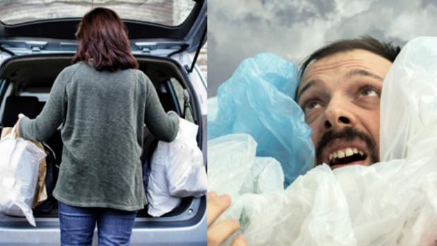 Cómo doblar bolsas de plástico para ahorrar espacio