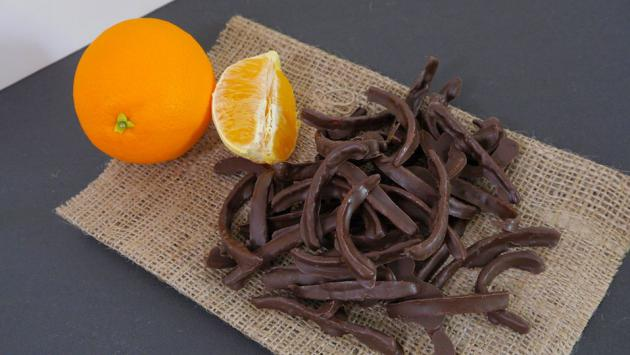 Delicia de cáscaras de naranja