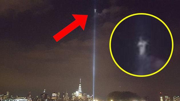 Dicen que un ángel apareció donde antes estaban las Torres Gemelas por estas imágenes