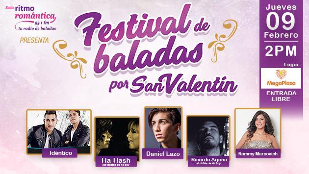 Disfruta del Festival de Baladas por San Valentín completamente gratis