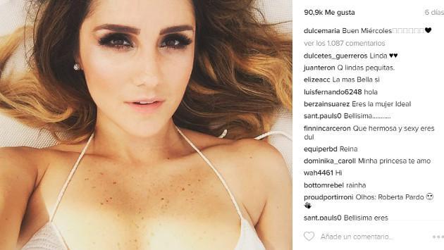 Dulce María se luce en sexy bikini en Instagram