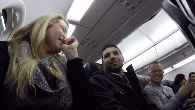 Ella sorprendió a su esposo a 3,500 pies de altura