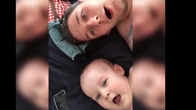 ¡Este tierno video de un bebé con su padre pasando el tiempo libre te conmoverá!