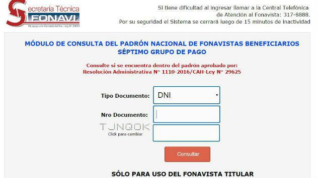 ¡Fonavi publicó su séptima lista de beneficiados!