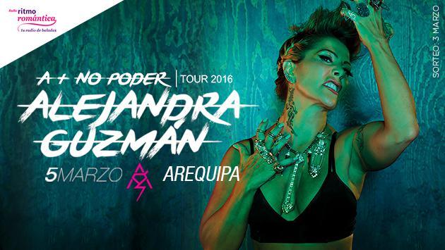 Ganadores de las entradas del concierto de Alejandra Guzmán en Arequipa