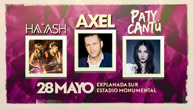 Ganadores de entradas para Ha*Ash, Paty Cantú y Axel