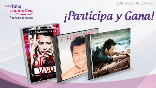 ¡Gana Pack CD+DVD de Ha*Ash, Alejandro Sanz y Chayanne, gracias a Ritmo Romántica!