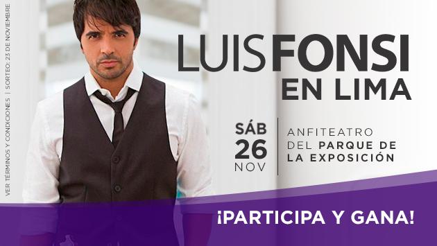 Gana una de las 15 entradas dobles para ver a Luis Fonsi en concierto