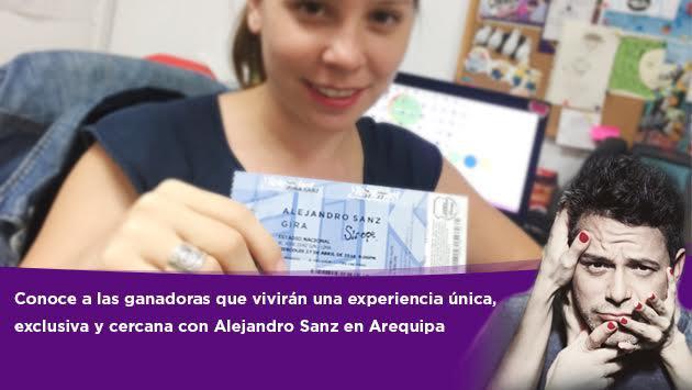 Ganadores que estarán en la prueba de sonido de Alejandro Sanz en Arequipa