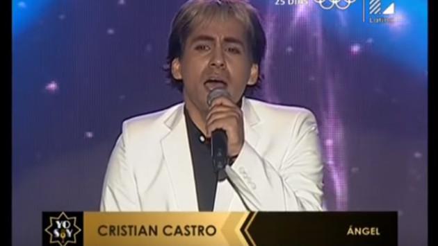Imitador de Cristian Castro se lució en 'Yo soy' interpretando 'Ángel'