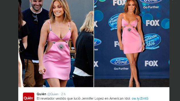 Jennifer López es duramente criticada por vestido rosa