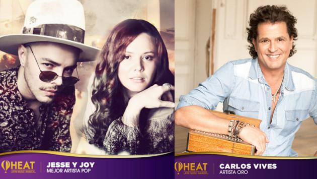 Jesse & Joy, Carlos Vives y Juanes triunfaron en los Premios Heat Latin Music Awars 2017