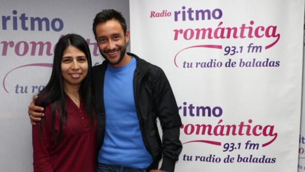 ¡Luciano Pereyra saludó a fans en Ritmo Romántica!