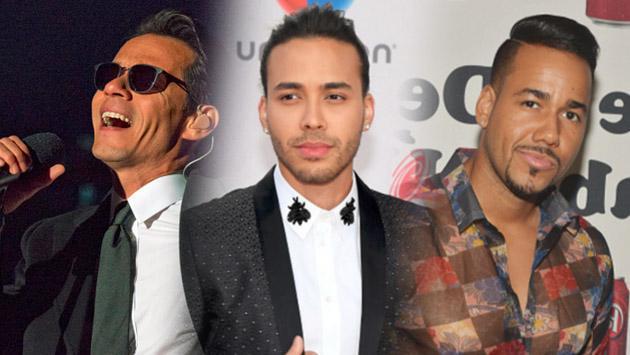 Marc Anthony, Prince Royce y Romeo Santos se enfrentan en los Premios Billboard