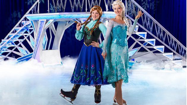 ¡Mira a los personajes de Disney sobre hielo!