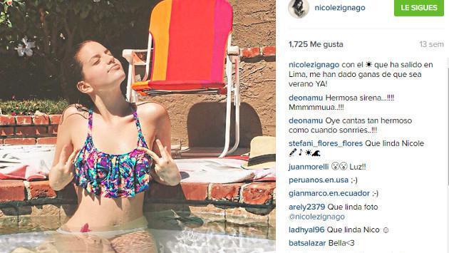 Nicole Zignago derrocha belleza y sensualidad en redes sociales