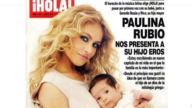 Paulina Rubio publica tierna foto alimentando a su segundo hijo