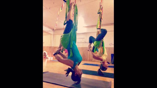 ¿¡Pero qué complicado ejercicio realiza Myriam Hernández!? [FOTOS]