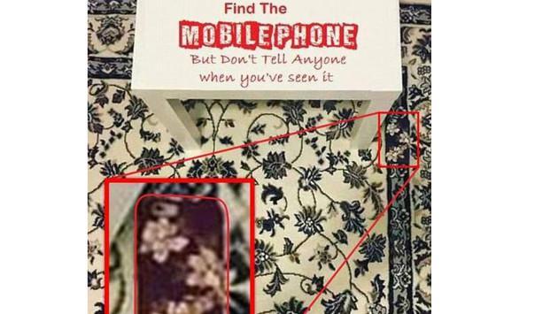 ¿Puedes encontrar el celular en esta imagen?