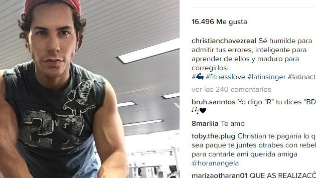 RBD: Christian Chávez luce envidiable figura en Instagram
