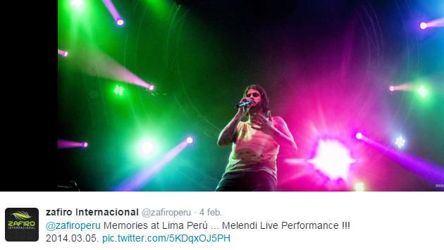 Revive la presentación de Melendi en Perú