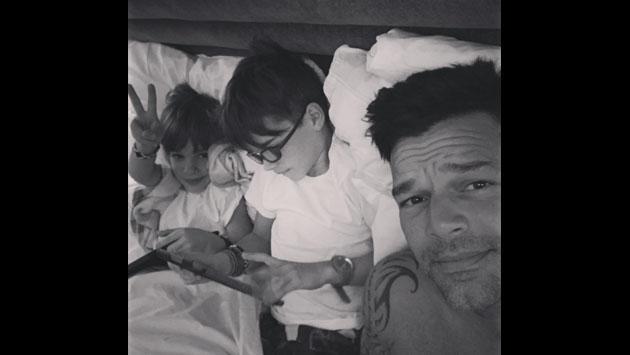 Ricky Martin habría revelado, sin querer, la identidad de la madre de sus mellizos