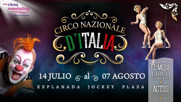 ¡Ritmo Romántica te regala entradas para el circo 'NazionaleD'Italia'!