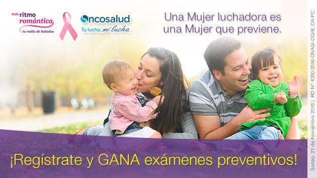 Ritmo Romántica y Oncosalud te regalan 20 mamografías completamente gratis