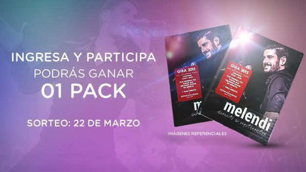 Ritmo Romántica y Sony Music te regalan dos  PACKS DE MELENDI (DVD y CD) este 22 Marzo