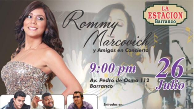¡Rommy Marcovich se presentará en concierto para deleitar a su público!