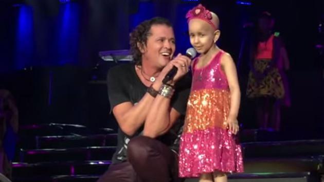 Carlos Vives cumplió el sueño de una niña con cáncer