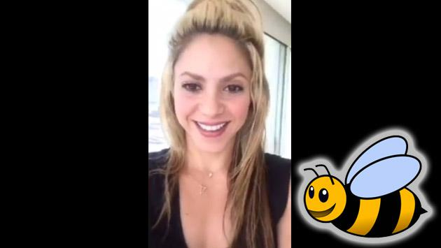 Shakira entra en pánico por una abeja en video de Instagram [VIDEO]