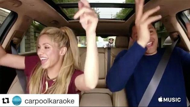 El Carpool Karaoke subió a Shakira al asiento de copiloto [VIDEO]