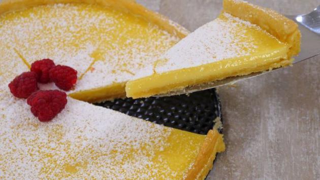 Tarta de limón casera